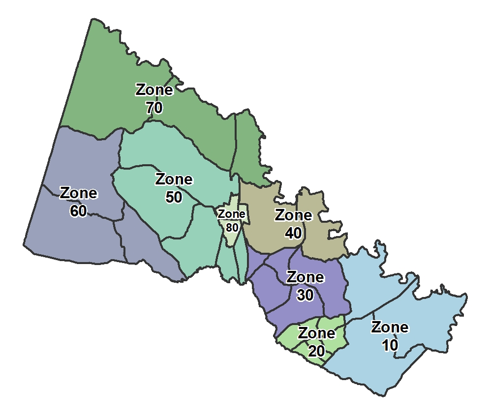County Zone Map